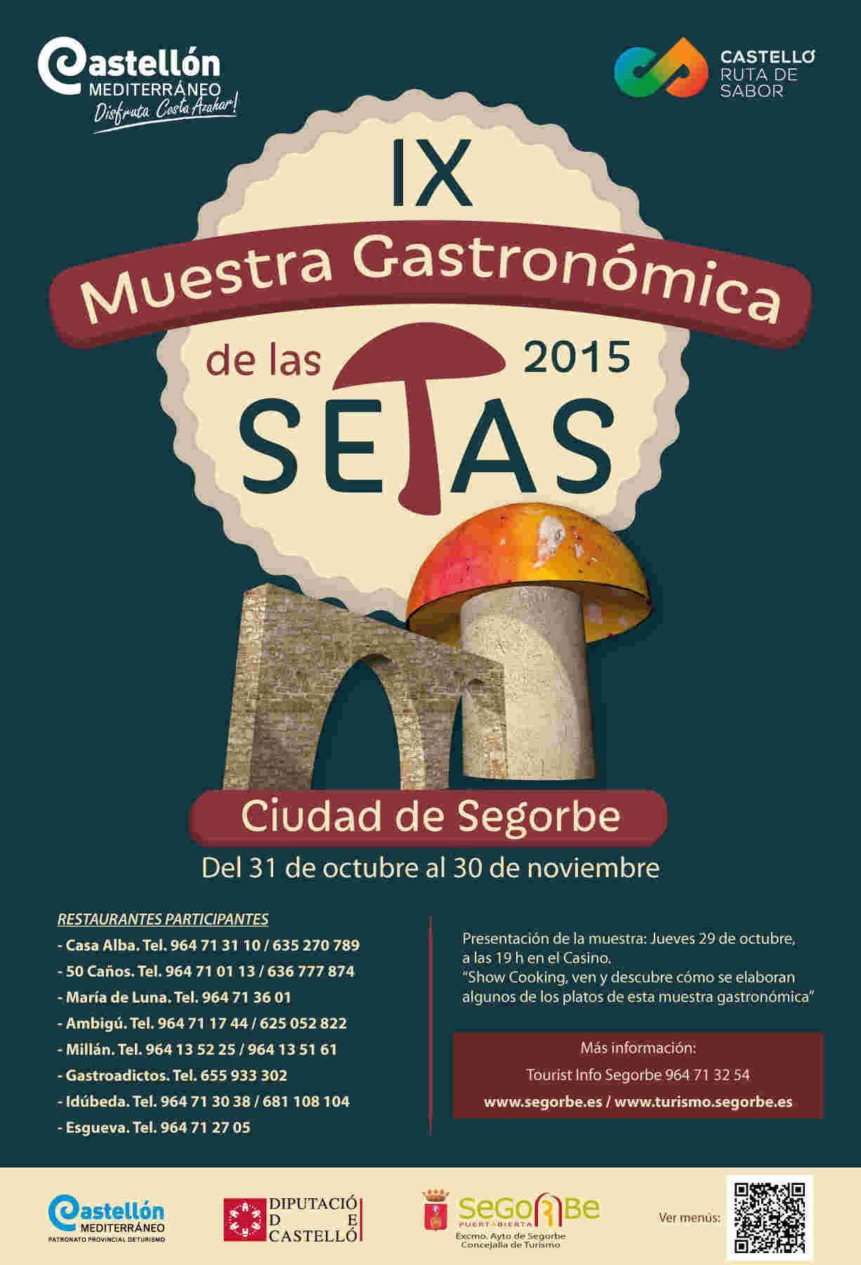 Cartel del IX Muestra Gastronómica de Setas