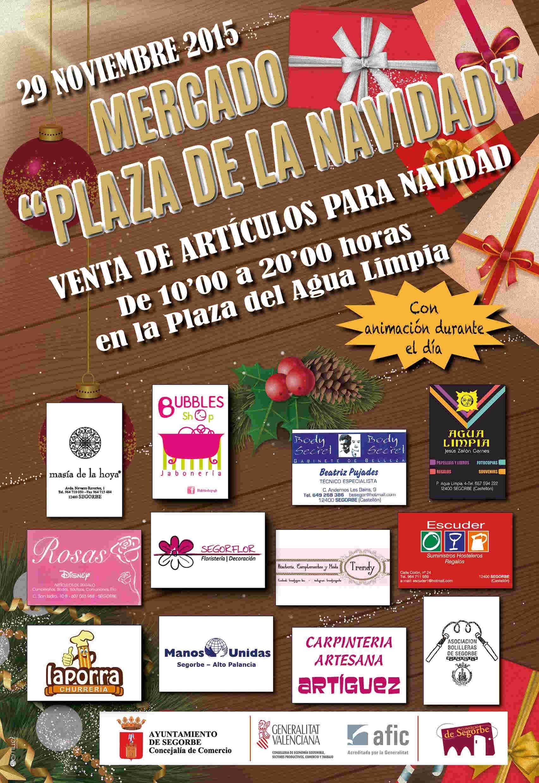 CARTEL MERCADO NAVIDAD Concejalía de Comercio de Segorbe
