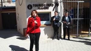 La Concejala de Turismo, Mercedes Pérez, en el acto de inauguración