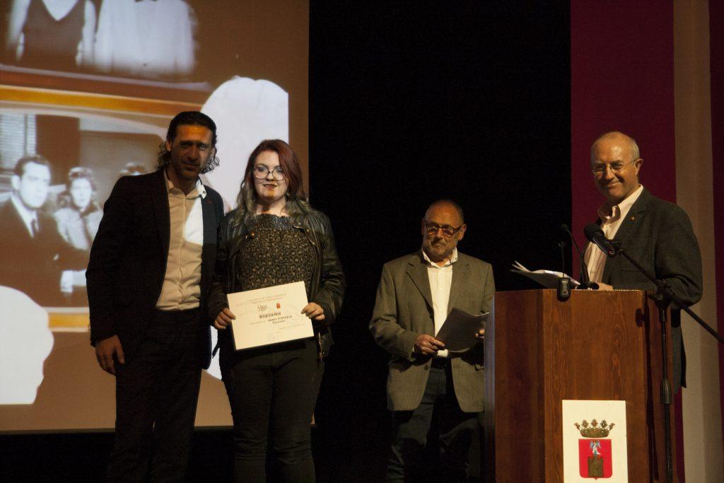 Entrega de premios de la X Muestra de Audiovisual Histórico de Segorbe, con Nacho Fresneda
