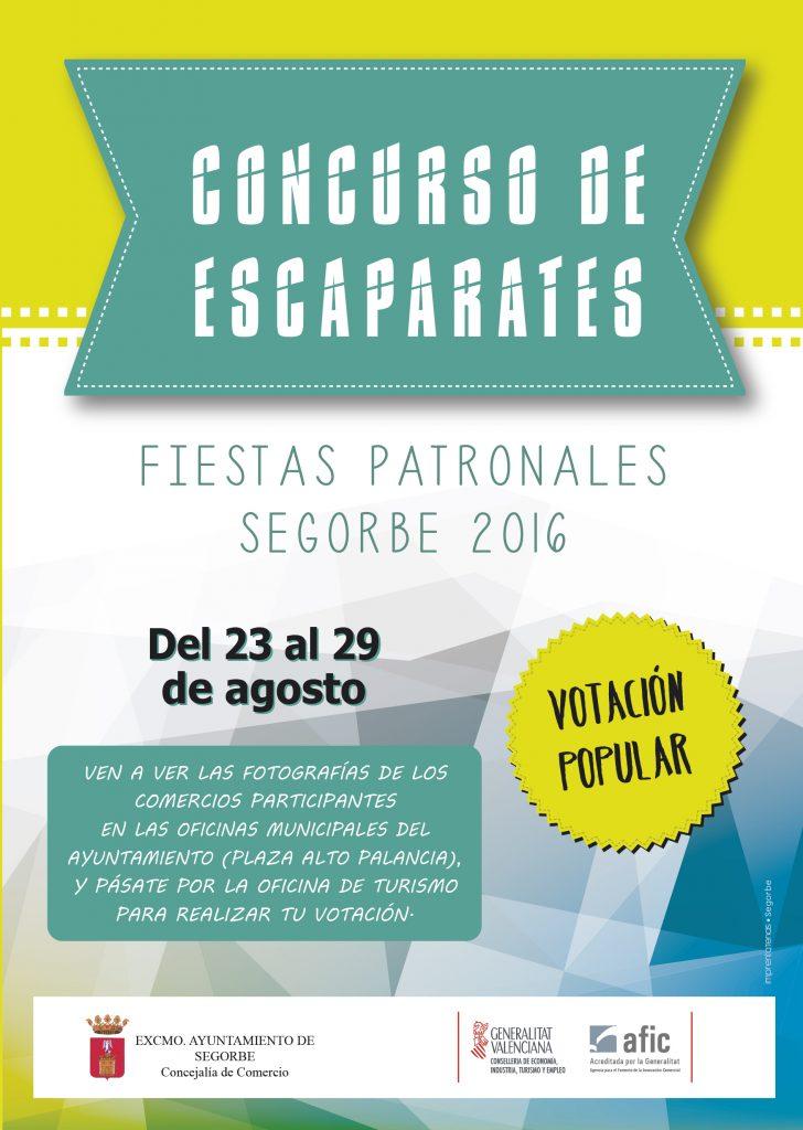Cartel del Concurso de Escaparates 2016