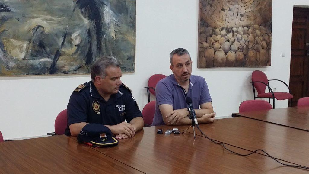 El Alcalde de Segorbe y el Jefe de la Policía Local en rueda de prensa