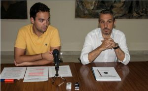 Rafael Magdalena y Enrique Máñez informan sobre la solicitud del taller de empleo