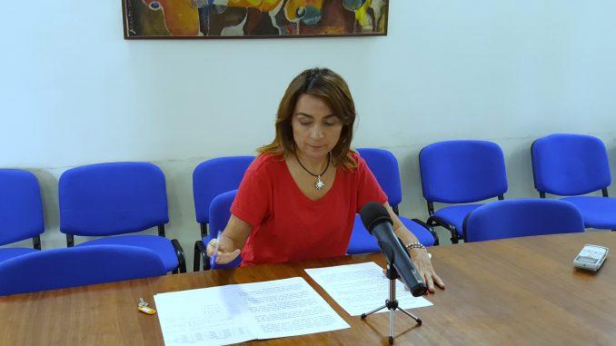 Mercedes Pérez en rueda de prensa