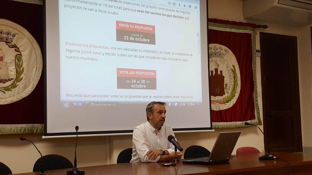 Rafael Magdalena, Alcalde de Segorbe, presenta ante los medios los presupuestos participativos