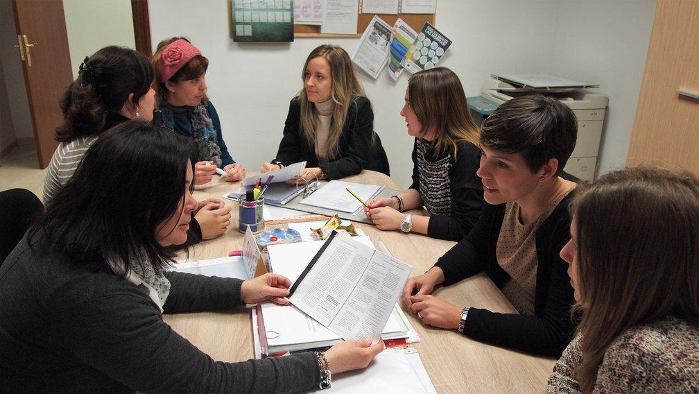 Las profesionales del CRIS de Segorbe en una reunión de trabajo