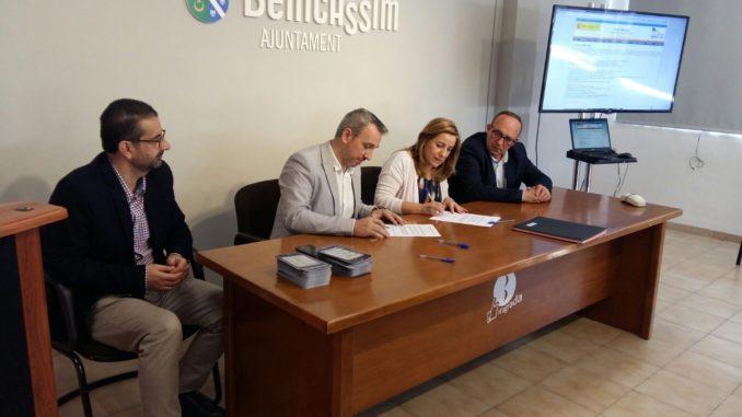 Firma del convenio entre el Consorcio FPA Alto Palancia y Benicàssim