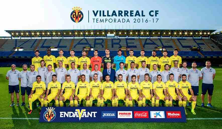 Foto oficial de la plantilla del Villarreal CF
