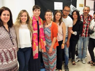 Profesionales del CRIS, del Ayuntamiento de Segorbe y el Alcalde, Rafael Magdalena