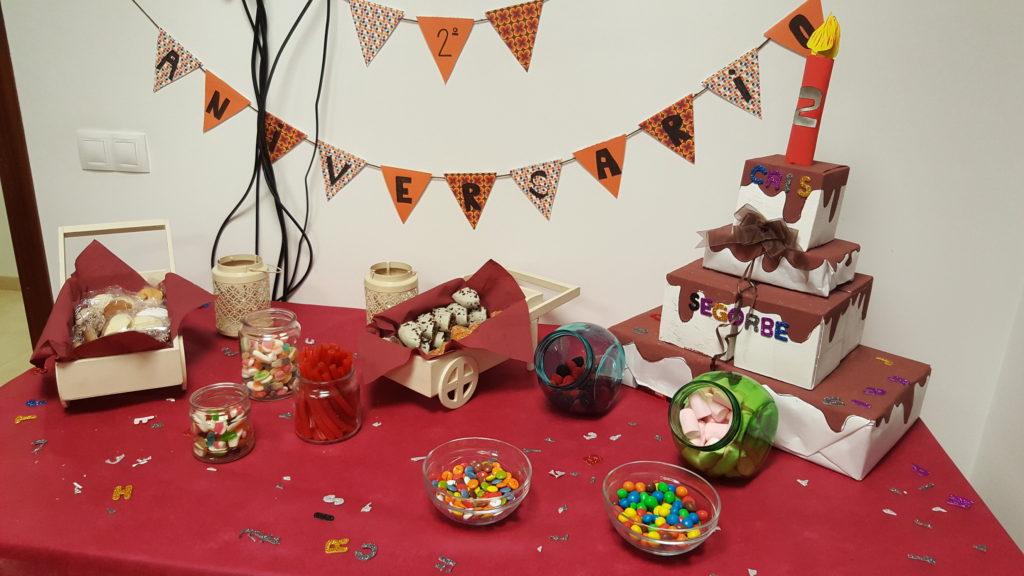 Mesa dulce realizada por los usuarios del CRIS de Segorbe