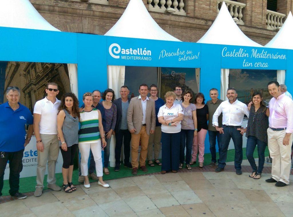 Técnicos de turismo de la provincia de Castellón en el Street Marketing de Valencia - Segorbe