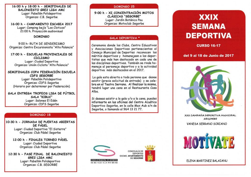 XXIX Semana Deportiva de Segorbe