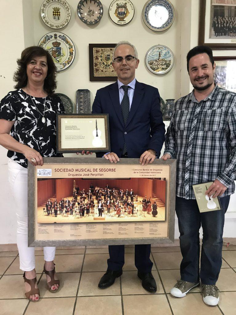 Entrega del reconocimiento en la Sociedad Musical de Segorbe