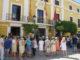 Homenaje a Miguel Ángel Blanco y las víctimas del terrorismo de ETA en la puerta del Ayuntamiento de Segorbe
