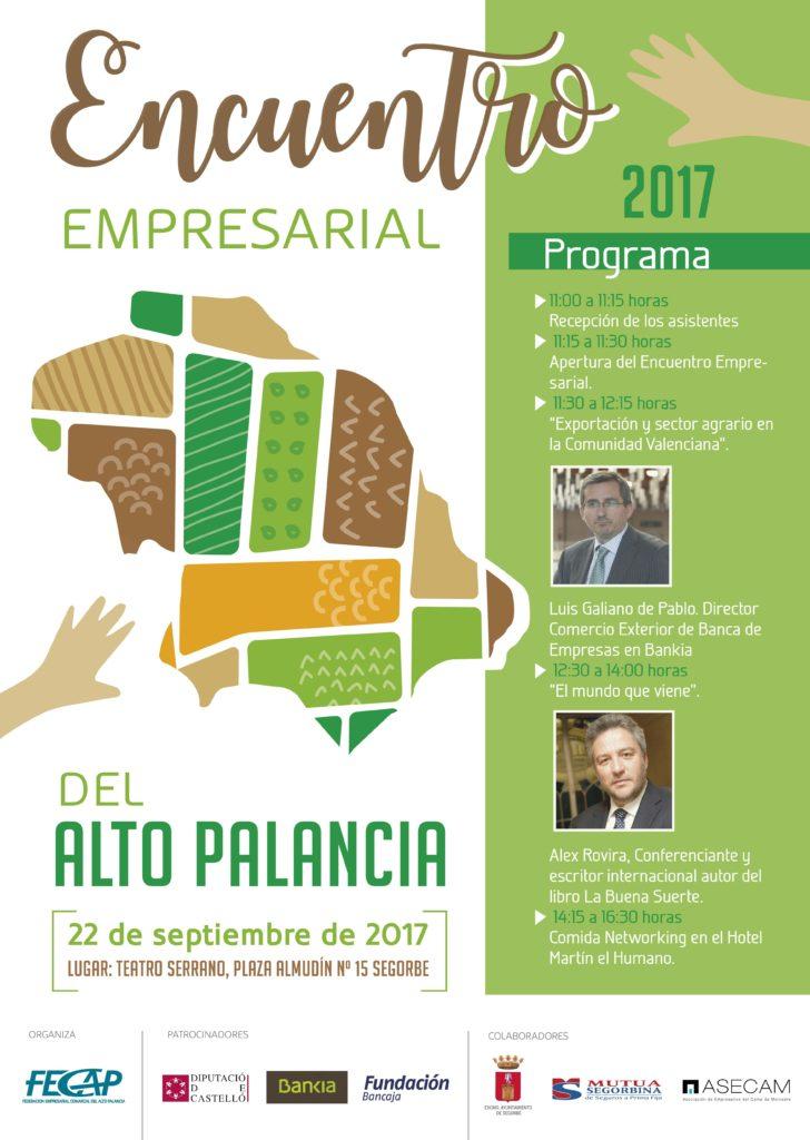 Cartel del Encuentro Empresarial del Alto Palancia 2017