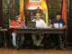 El Alcalde, Rafael Magdalena, junto a Enrique Máñez y Tere Mateo en el pleno