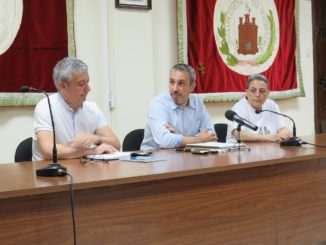 Rueda de prensa en el Ayuntamiento de Segorbe.