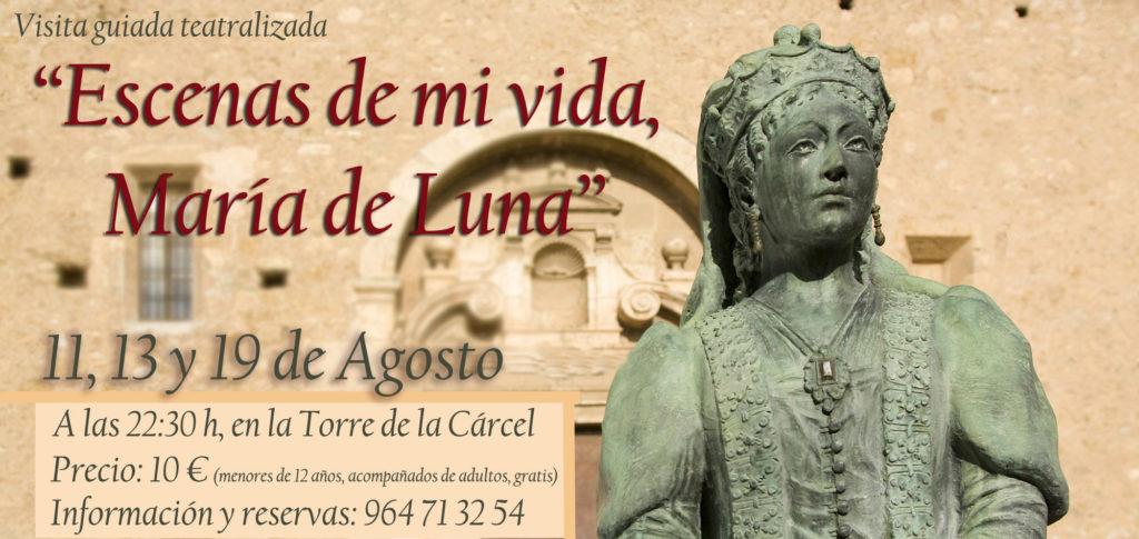 """Las visitas teatralizadas nocturnas """"Escenas de mi vida, María de Luna"""" comienzan mañana."""