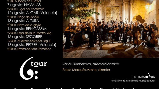 """Gira de conciertos organizada por la Asociación de intercambio cultural """"Enharmonía"""" con la orquesta Carpe Diem Chamber Orchestra St. Petersburg."""