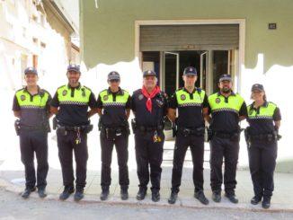 Agentes de la Policía Local de Segorbe durante los festejos taurinos de Segorbe