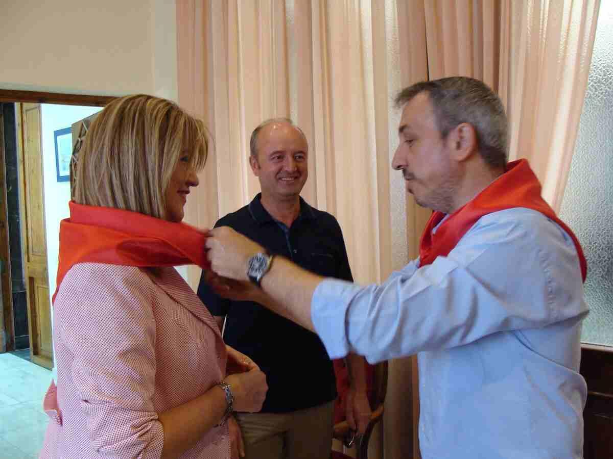 Recepción de invitados en el Ayuntamiento de Segorbe