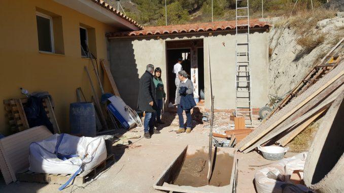 El Alcalde, la Concejala de Pedanías y la Teniente de Alcalde visitan las obras