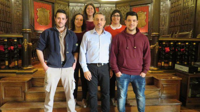 Cinco de los seis jóvenes empleados por los programas del SERVEF en Segorbe