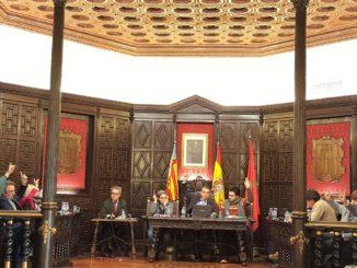 Durante la votación para la aprobación del inventario de bienes del Ayuntamiento