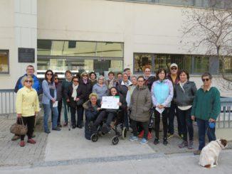 Grupo de personas participantes en la ruta inaugural del programa CAS
