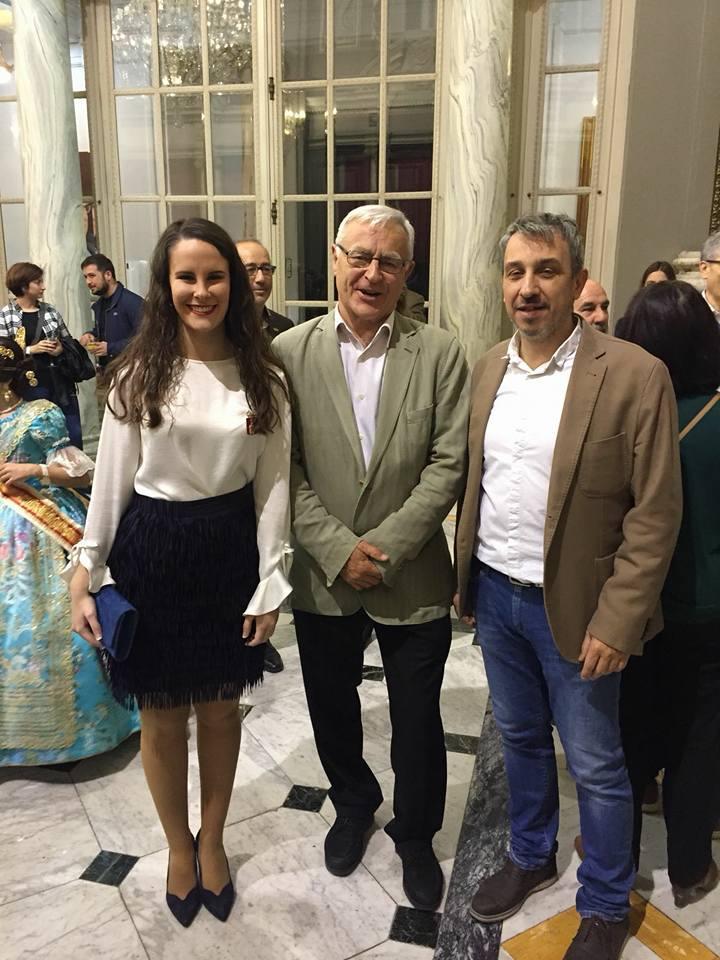 Ángela Mínguez y Rafael Magdalena, junto al Alcalde de València, Joan Ribó