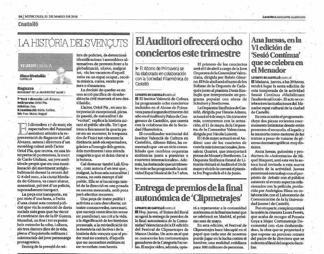 Prensa del 21 de marzo