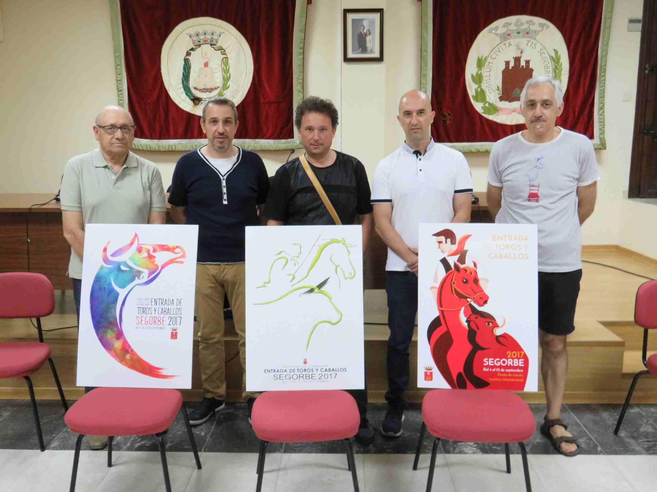 Premiados del concurso de carteles de la entrada de toros y caballos de Segorbe 2017