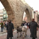 El desfile contó con la participación de animales