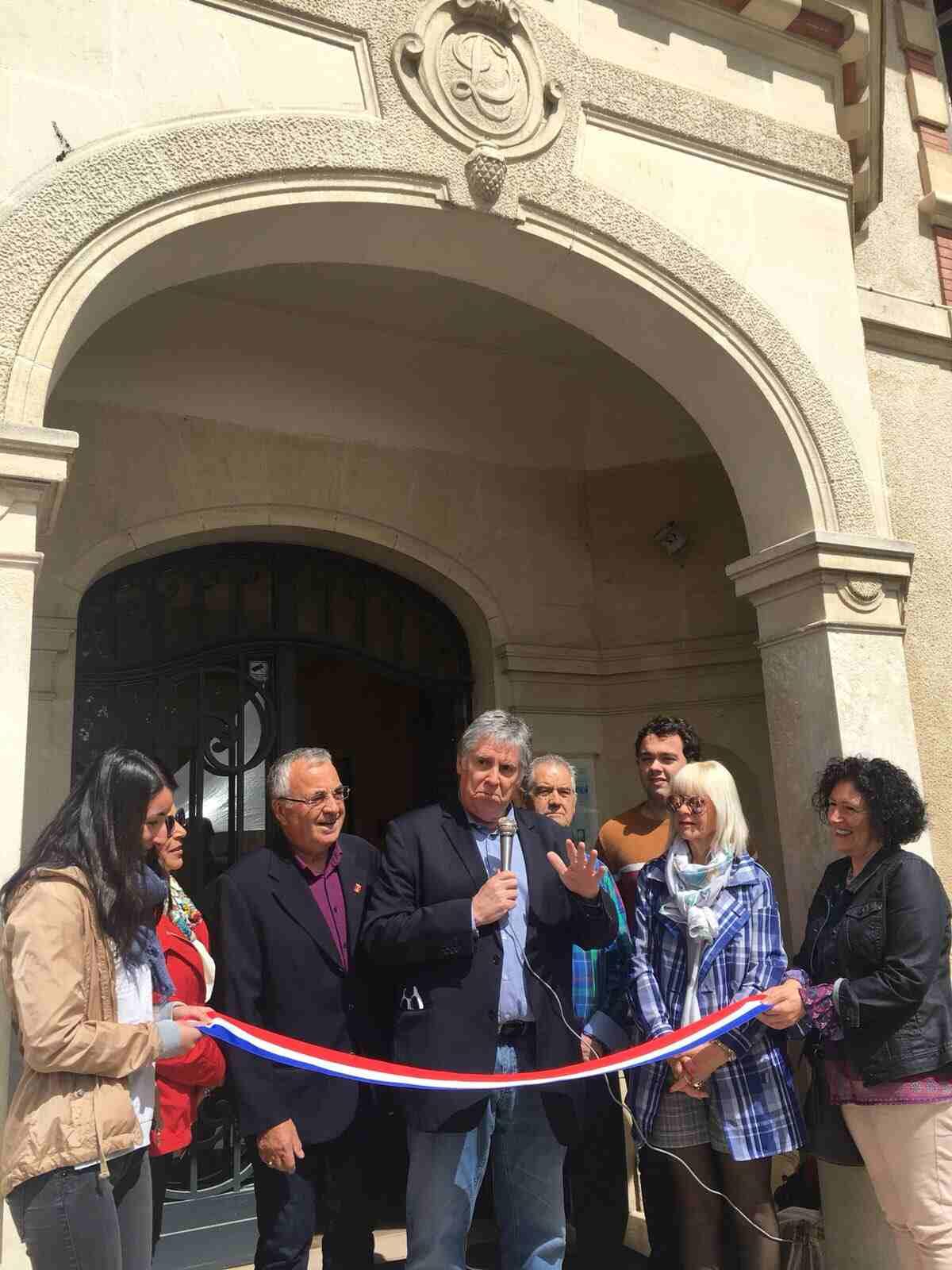 Inauguración de la exposición en el Museo Loui David