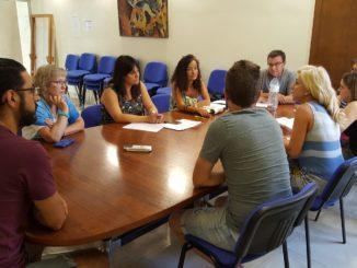 Reunión con profesionales del Centro Ocupacional en el Ayuntamiento de Segorbe