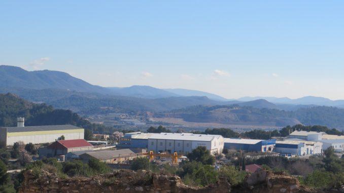 Polígono industrial del Santísimo, visto desde la ermita de la Esperanza