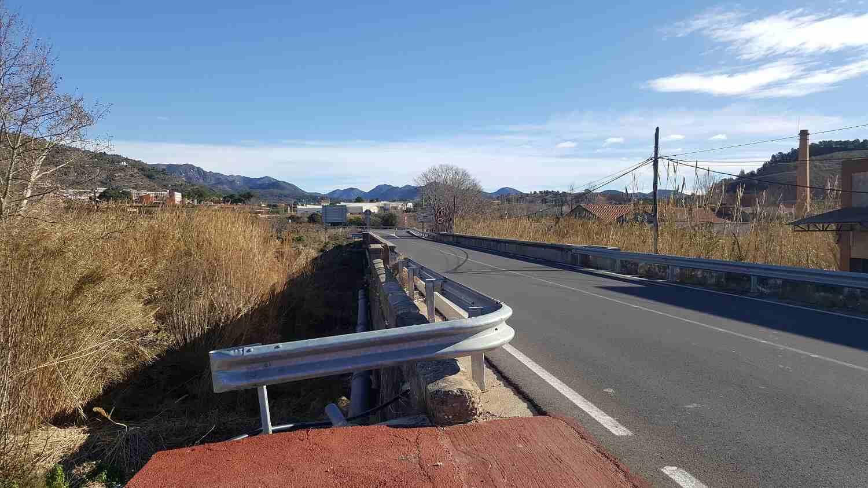 Lugar donde se va a instalar el puente