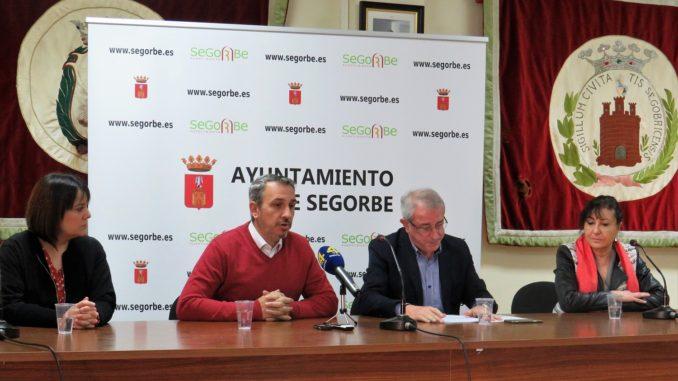 Rueda de prensa celebrada hoy en el Ayuntamiento de Segorbe