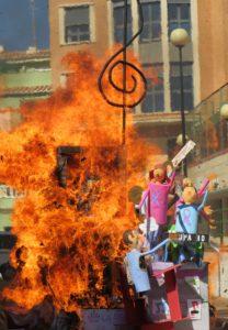 La falla en llamas