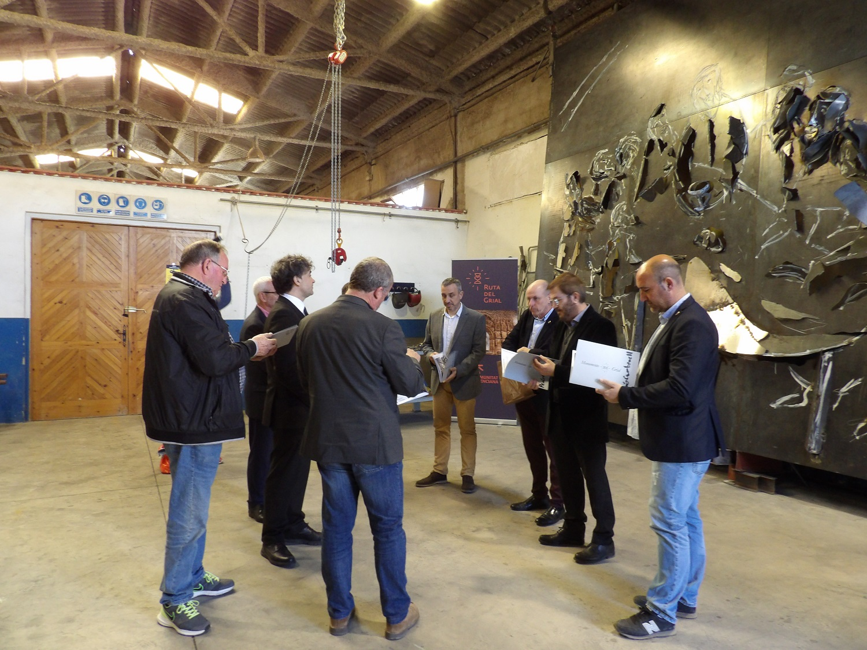La visita realizada ayer al taller del artista