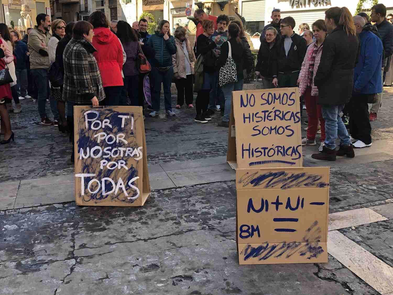Pancartas a favor de la igualdad en Segorbe