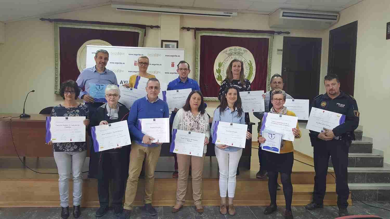 Representantes de los agentes turísticos con certificado SICTED