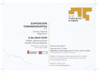 Exposición 75 años de arte en Segorbe