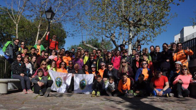 Grupo asistente a la jornada senderista