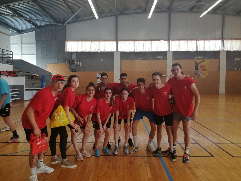Grupo participante en las pruebas deportivas en Andernos