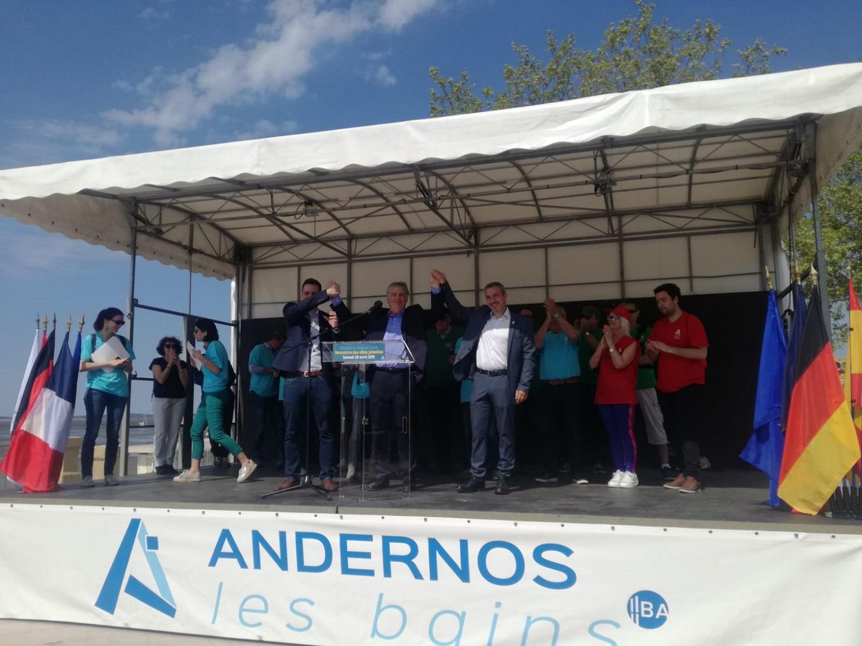 Los alcaldes de las localidades asistentes a los Encuentros Europeos