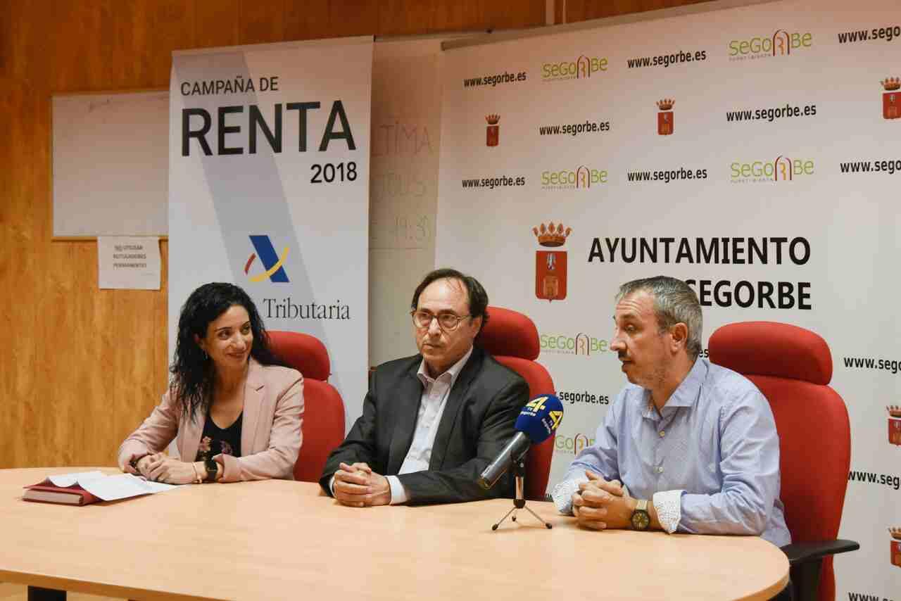 El alcalde, el conseller y la directora de la Agencia Tributaria Valenciana ofrecieron una rueda de prensa