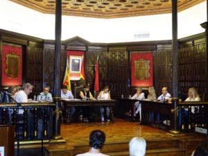 Imagen del pleno celebrado el 2 de octubre en el Ayuntamiento de Segorbe