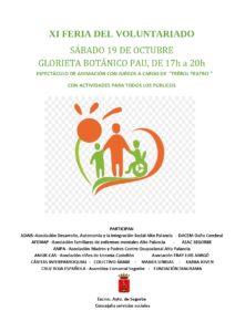 El sábado 19, Segorbe celebra la XI edición de su Feria del voluntariado con actividades de animación