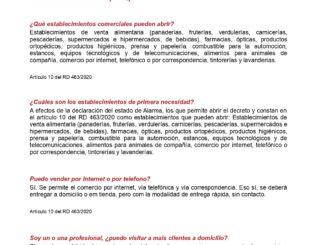 Preguntas y respuestas Comercio Generalitat Valenciana